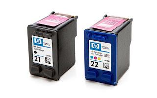 dos cartuchos de tinta sistema tricolor y negro
