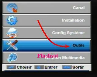 au récepteur 5 appuyez sur la touche menu sur télécommande