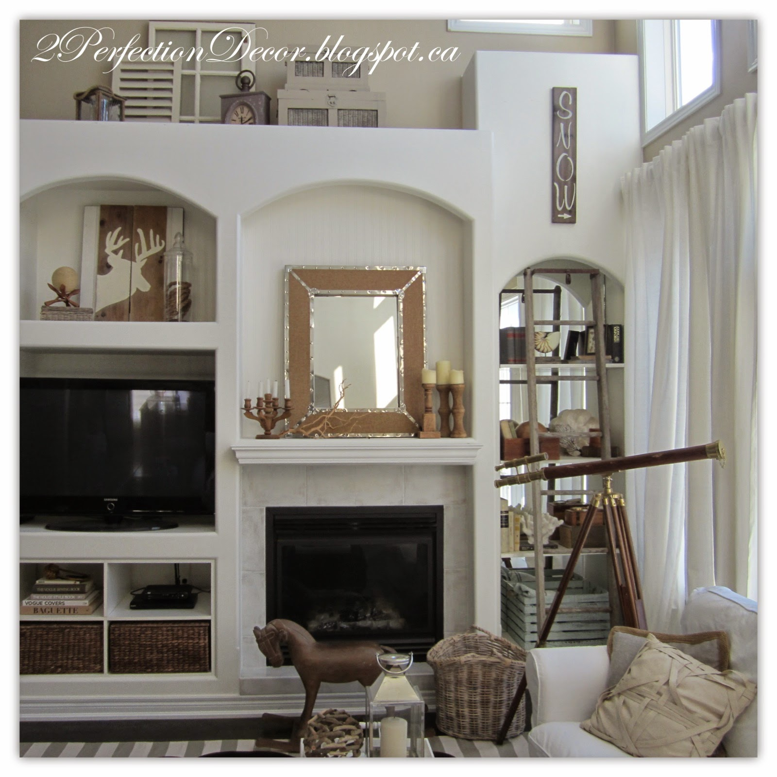 2Perfection Decor: Neutral Winter Decorating