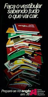 propaganda Curso Anglo - 1977. Anúncio anos 70. os anos 70; propaganda na década de 70; Brazil in the 70s, história anos 70; Oswaldo Hernandez;