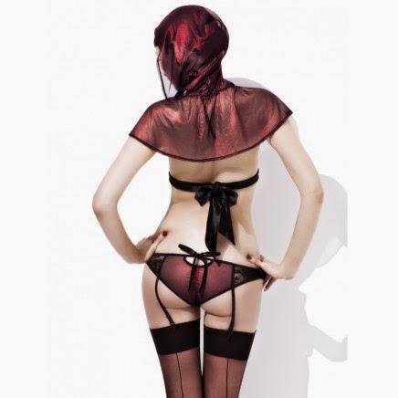 Lencería sexy Miss Red Caperucita Roja