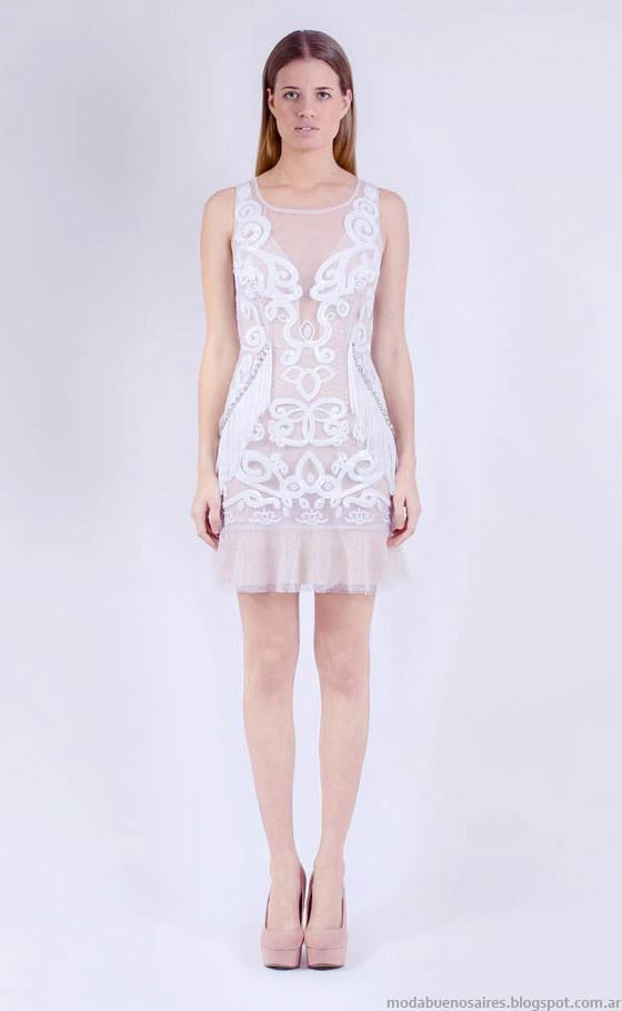 Vestidos de fiesta estampa 3d verano 2015 moda. Natalia Antolin primavera verano 2015.