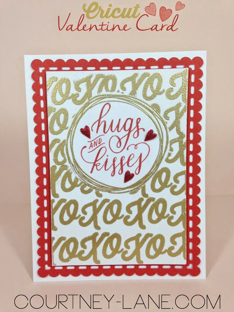 Gold Hugs and Kisses card