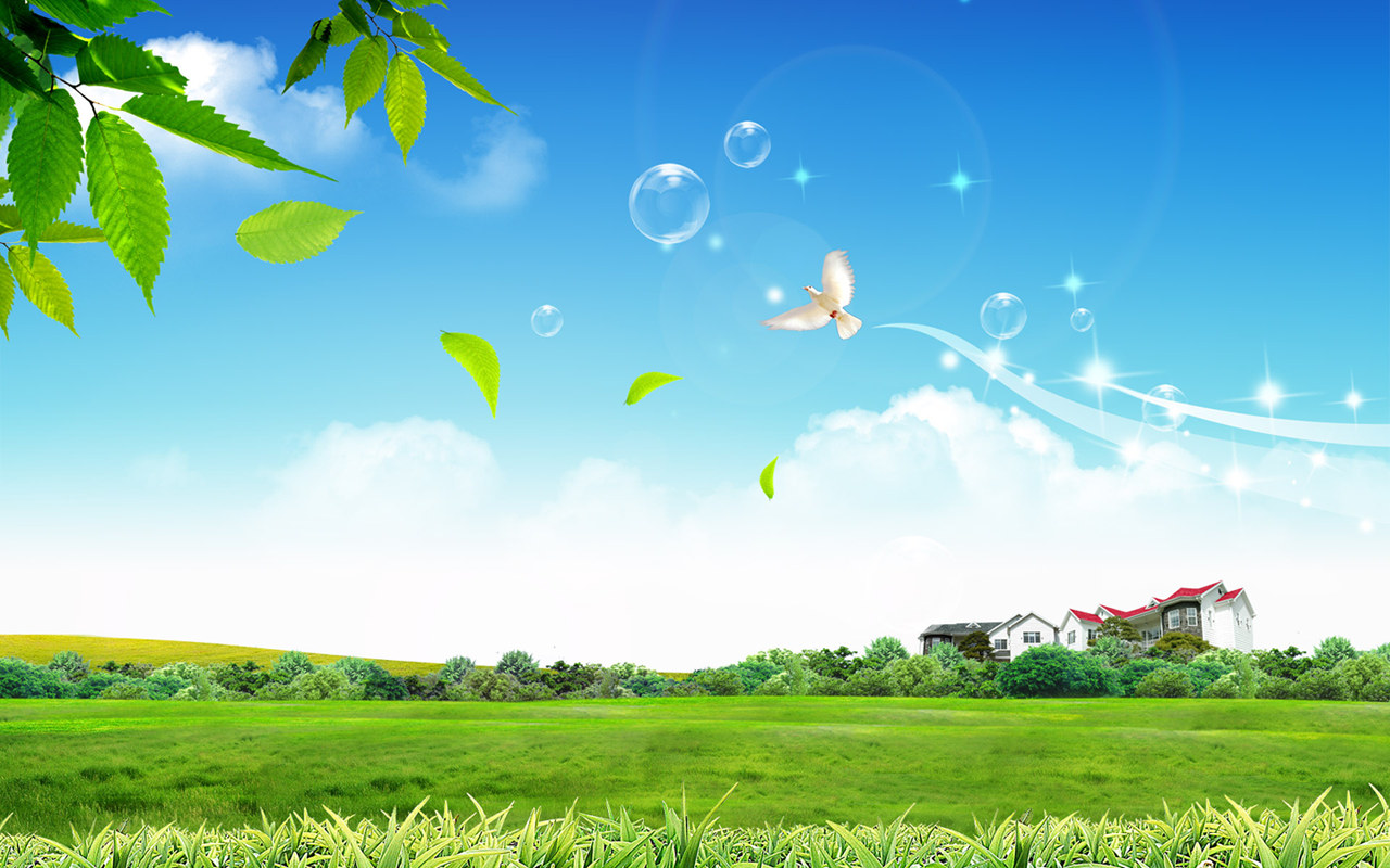 Beautiful Spring Green Scenery Wallpaper