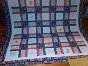 QFC Veteran&#39;s Embroidered Quilt #2