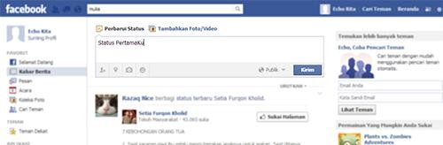 Perbaharui Status Facebook