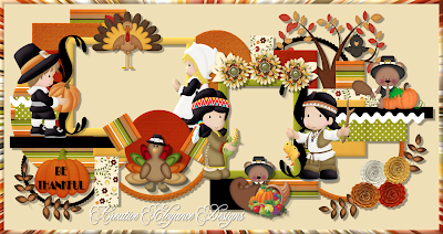 Thanksgiving Cluster Frame