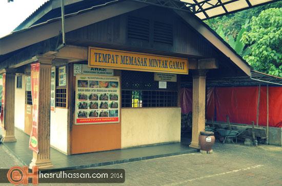 Tempat memasak minyak Gamat Asli Langkawi Kedah Malaysia