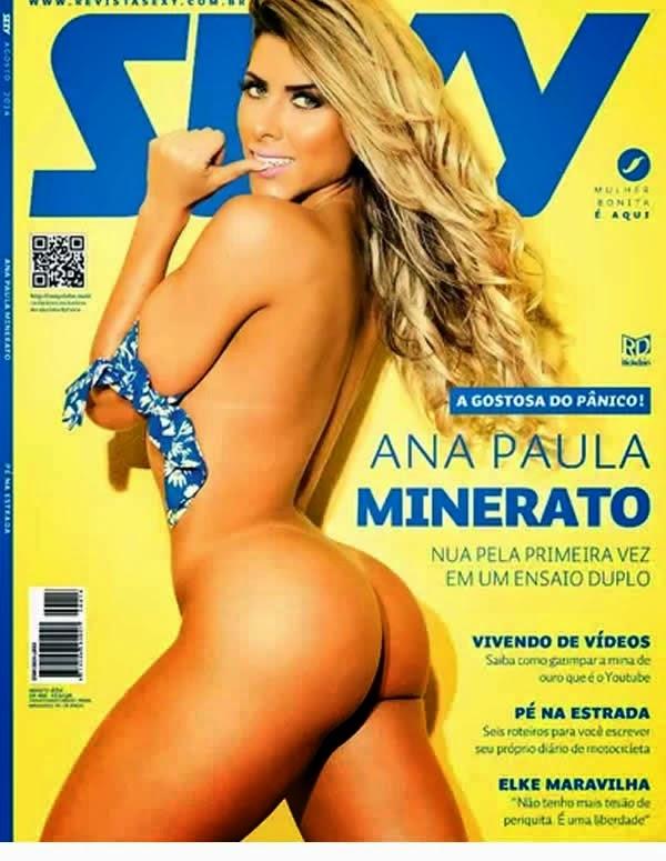 A panicat Ana Paula Minerato, pelada na Sexy de agosto