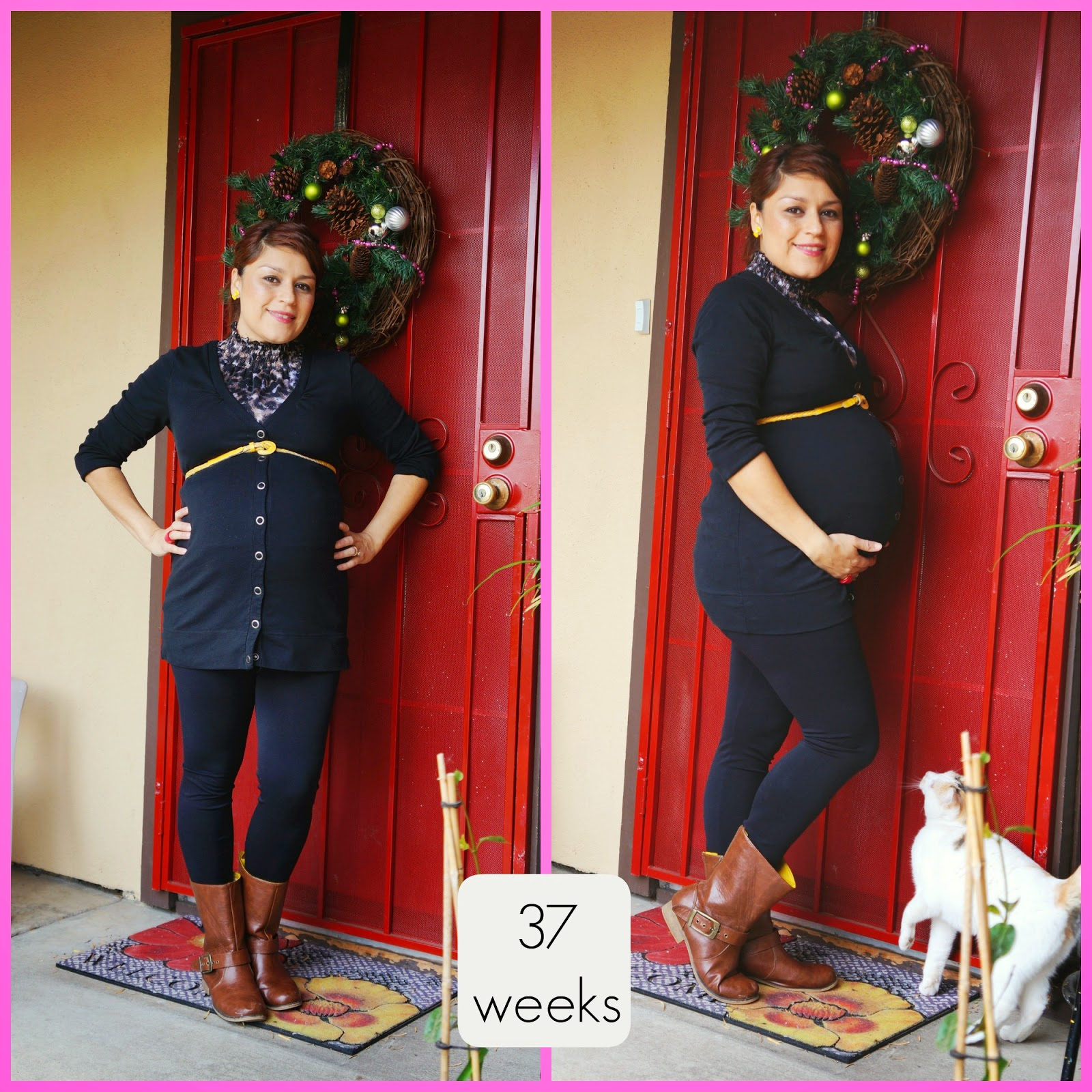37 weeks, cheap maternity, thrifted maternity