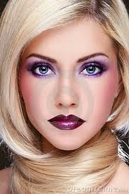 MAKE UP VIOLET TRUCCO VIOLA