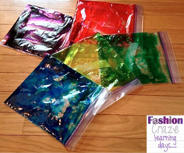 hair gel sensory bags