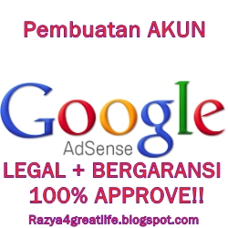 Google adsense, dollar, ppc, bisnis online, jasa pembuatan akun adsense, murah, bergaransi, 100% approve