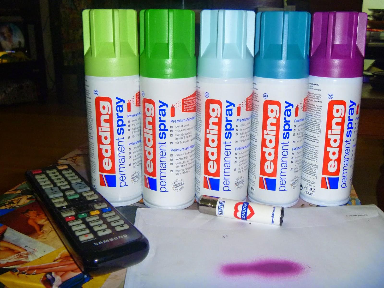 least blogged: edding permanent spray
