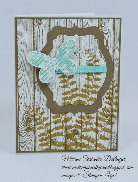 Miriam Castanho Bollinger, #mstampinwithyou, stampin up, demonstrator, ppa 250, all occasions card, hardwood background stamp, butterfly basics stamp set, big shot, deco labels collections, best year ever accessory pack, su