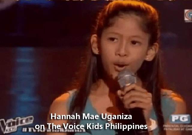 Hannah Mae Uganiza on The Voice Kids Philippines