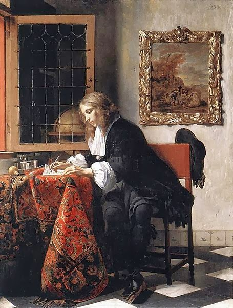 Painting - Man writing letter
