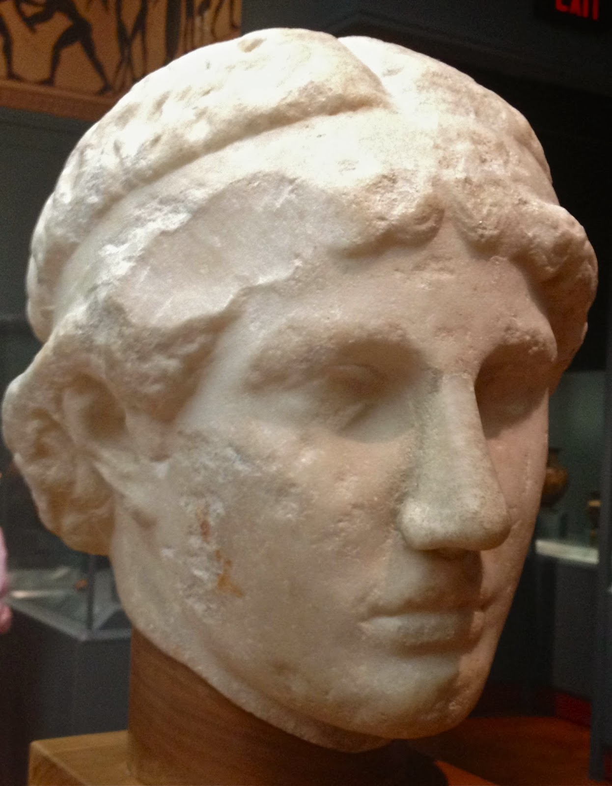 Athena Lemnias head - marble copy