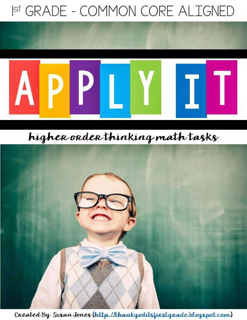These higher level thinking type of problems encourage students to work together and have great discussions surrounding the answers. They provide students with an alternate way to show what they have learned and also allow students to use their skills in real life situations. #math #firstgrade #Higherorderthinking