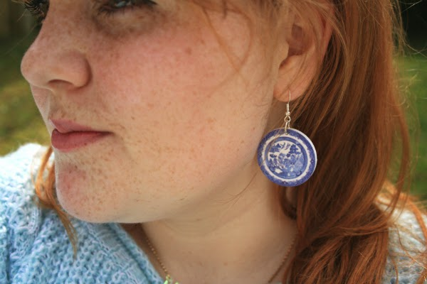 tatty devine willow pattern drop earrings