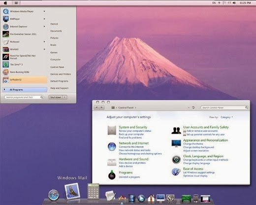 Mac OS X Lion Transformation Pack For Windows 7 SP1 Download Lion Transformation Pack untuk Windows 7, Vista dan XP