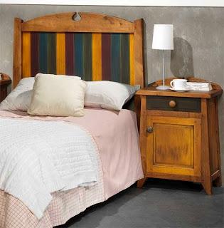 Cabecero rustico colores