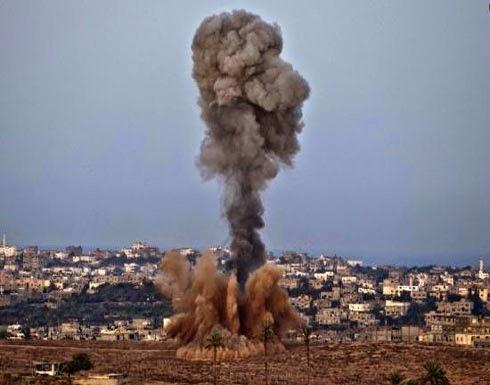 إصابة قيادي بحركة حماس في قصف عشوائي على قطاع غزه