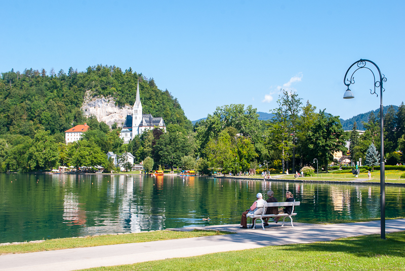 Image of lake bled in slovenia in the summer