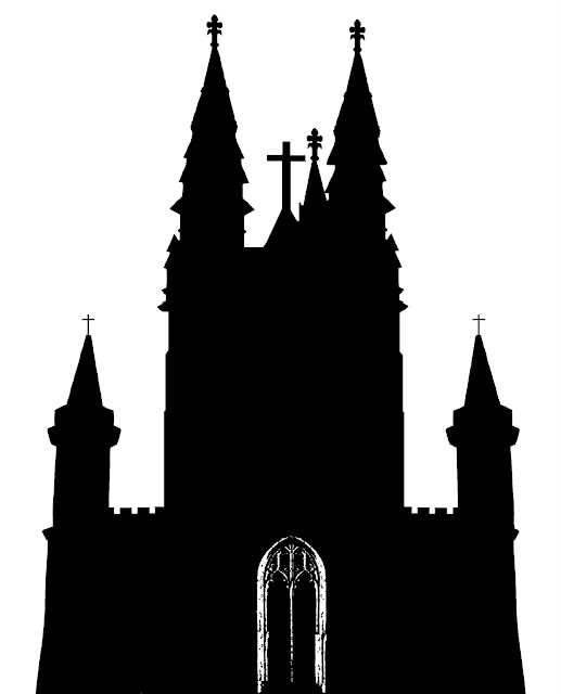 large church silhouette