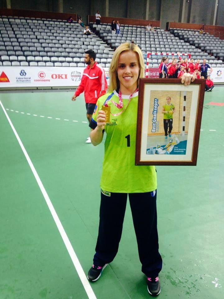Flavia, la mejor arquera del Mundial Universitario de Handball