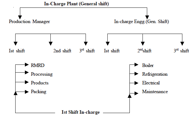Structure of Shift in Dairy Plants