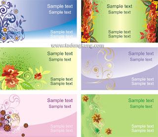 Template Kartu Nama Motif Bunga