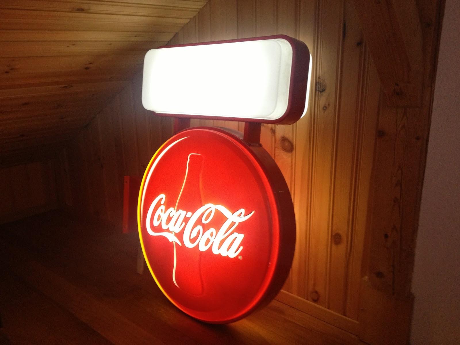 volksjewels coca cola leuchtreklame. Black Bedroom Furniture Sets. Home Design Ideas