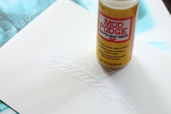Use Mod Podge to seal the edges of a decal so that paint won't seep under the design. pitterandglink.com