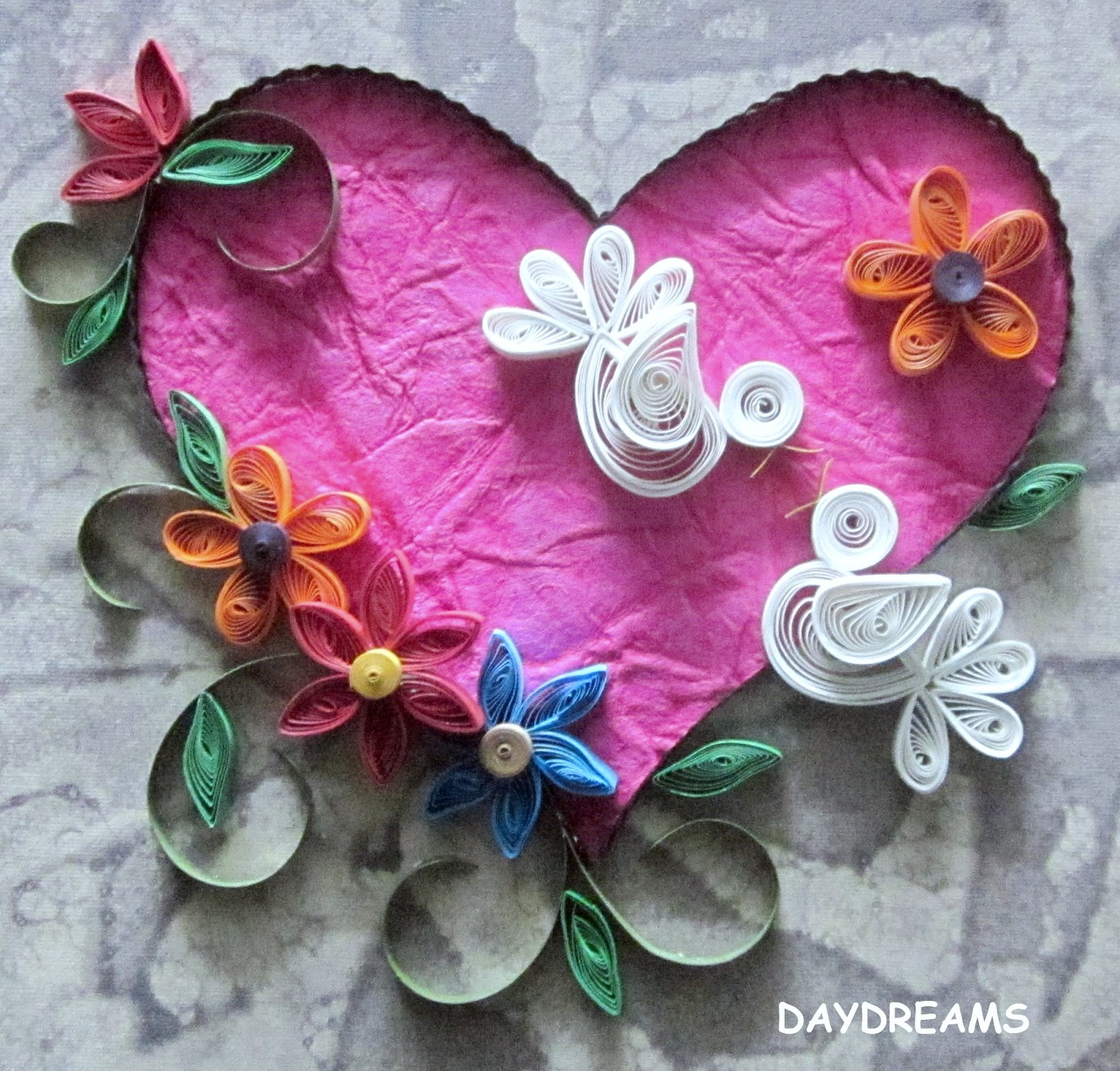 Book Cover Paper Quilling : Daydreams quilling