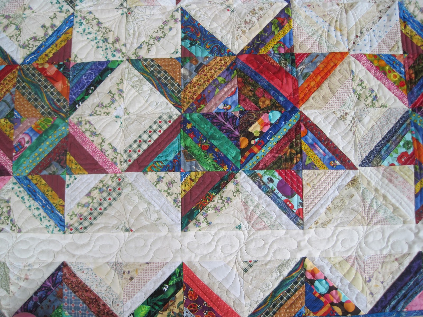 Finely finished quilts my scrap quilts for Scrap quilt