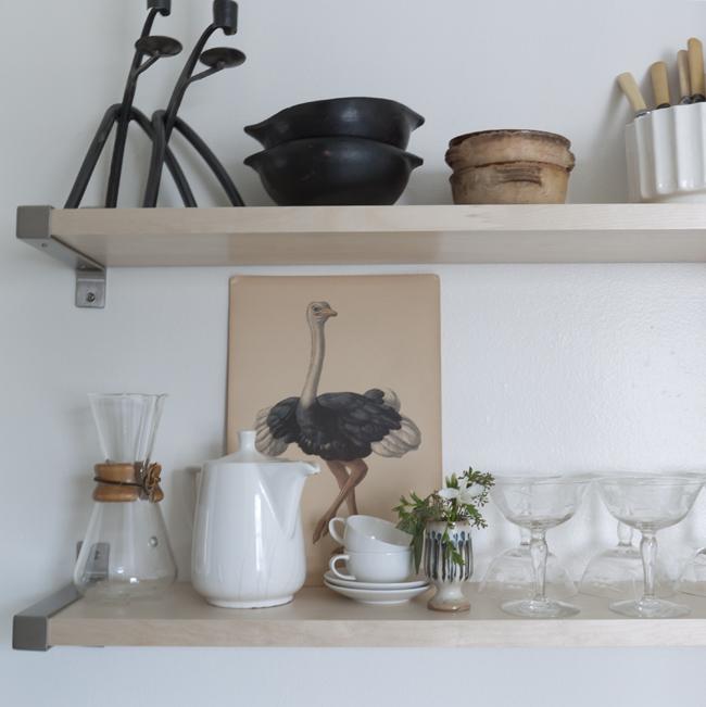 Hanging Open Kitchen Shelves: Cottage Farm: Open Kitchen Shelving