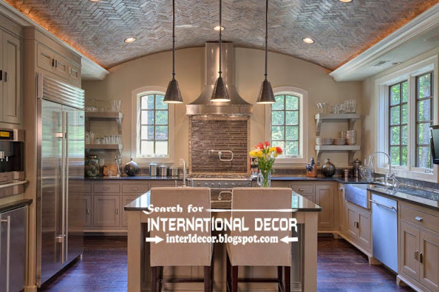 modern kitchen ceiling designs ideas tiles lights, drop ceiling tiles for kitchen