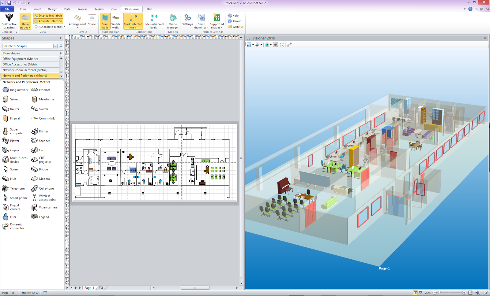 Microsoft visio professional 2014 crack full version free for Free 3d office design software