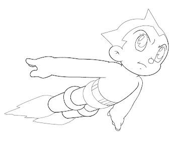 #2 Astro Boy Coloring Page