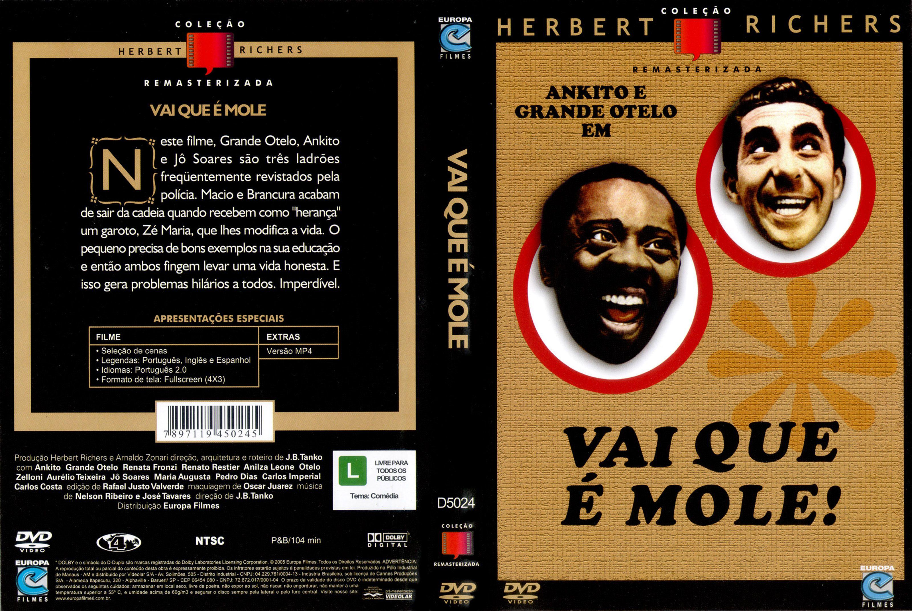 Capa DVD Vai Que É Mole