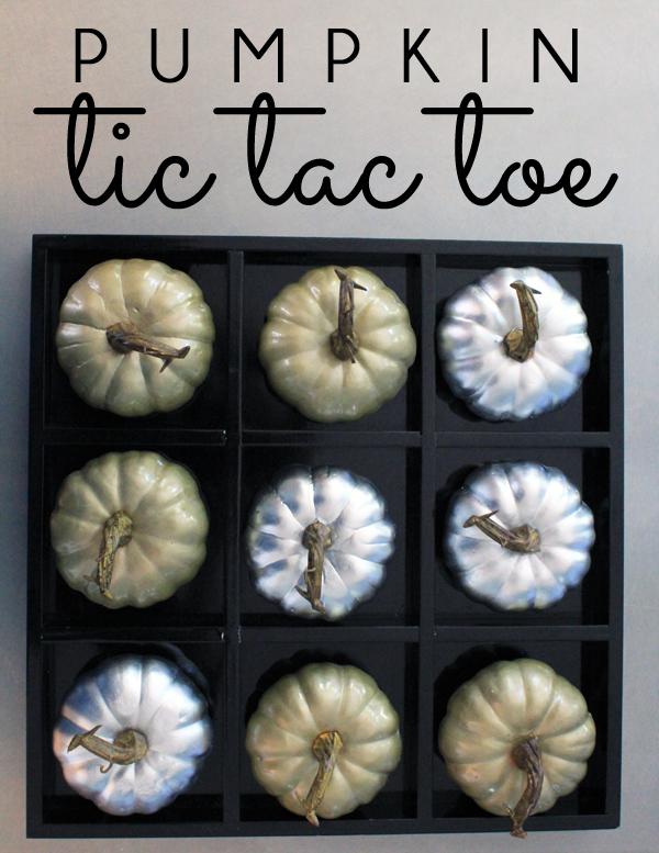 Pumpkin Tic Tac Toe for fall, Halloween & Thanksgiving