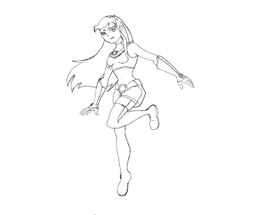 #8 Starfire Coloring Page