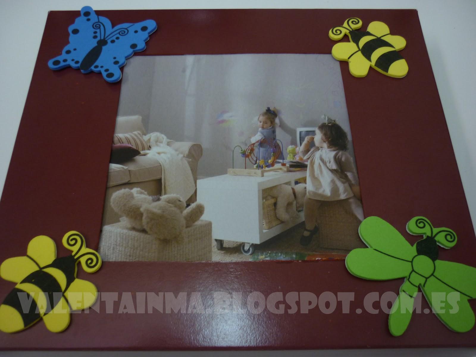 Manualidades: Marco de cartón y goma eva