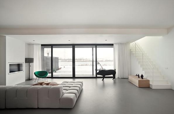 Hogares frescos plan de decoraci n de piso abierto for Casa rural minimalista