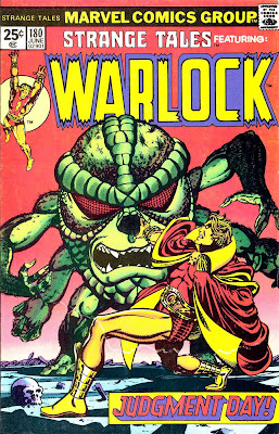 Strange Tales v1 #180 marvel warlock comic book cover art by Jim Starlin