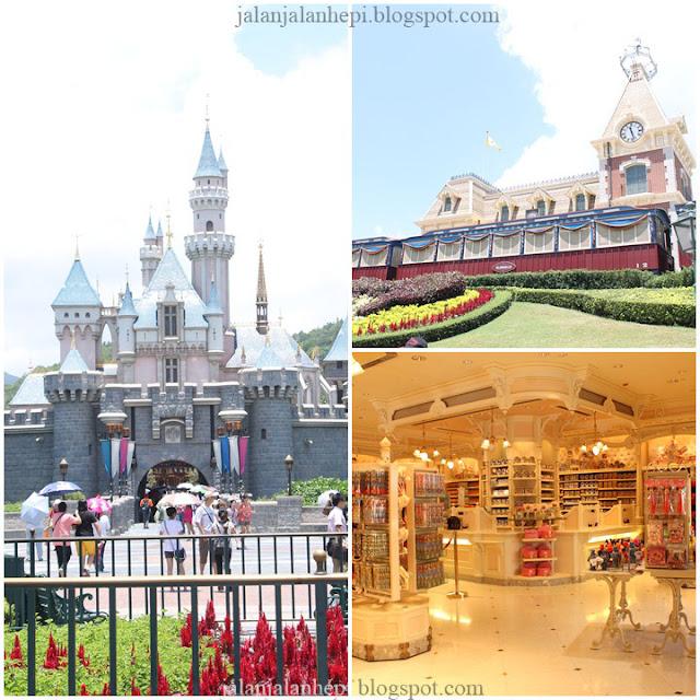 kastil disneyland dan souvenir store