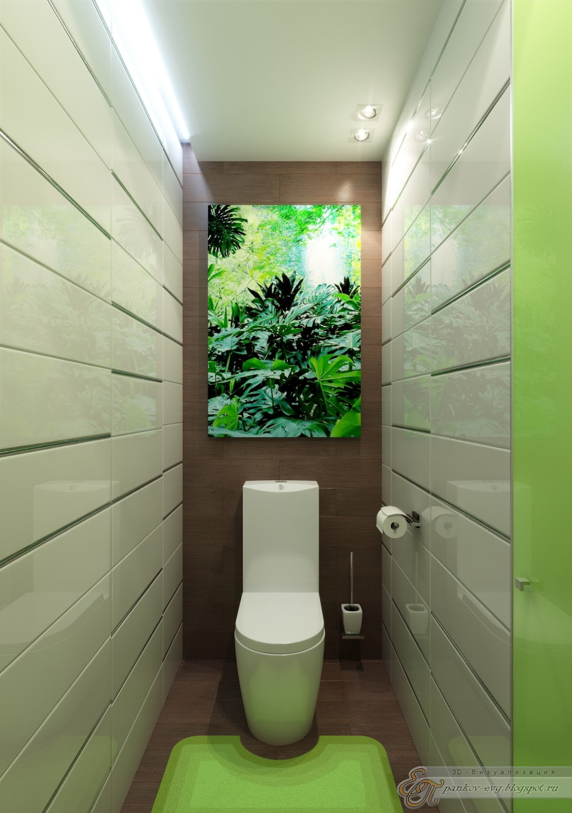 Туалет дизайн 9 кв.м