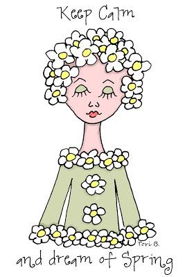 Free Crudoodle Digital Stamp, Fleur, Spring Color by Tori Beveridge