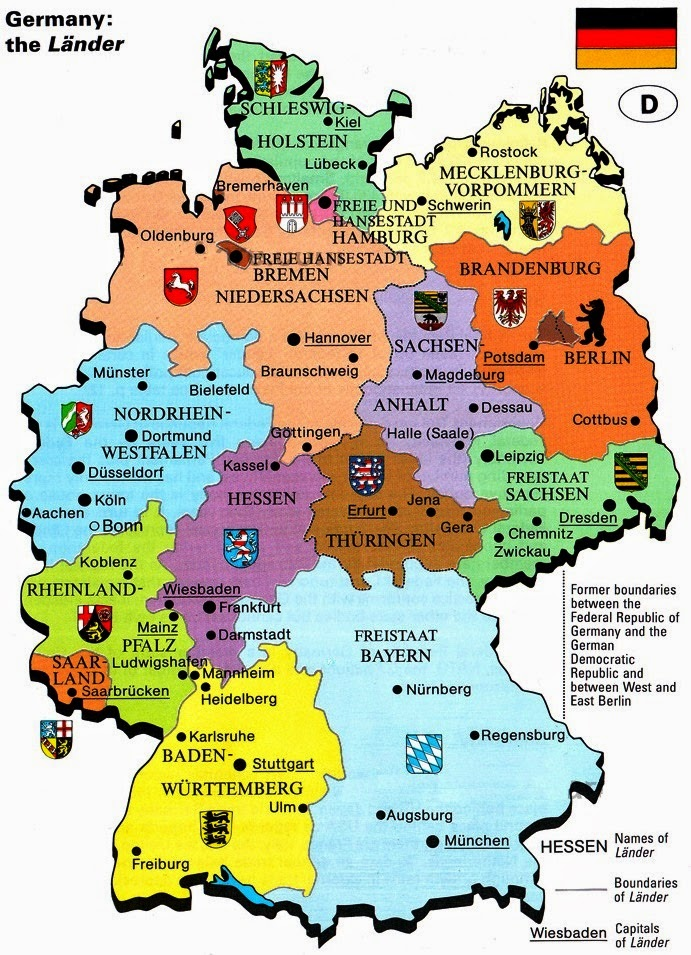 Germany the lander map